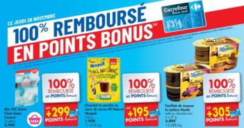 Produits 100% remboursé chez Carrefour le 28 novembre 2019