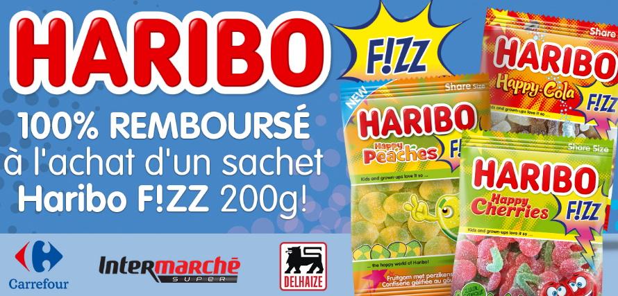 Bonbons Haribo Fizz 100% remboursé avec myShopi