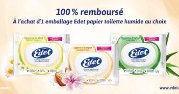 Papier toilette humide Edet 100% remboursé avec myShopi