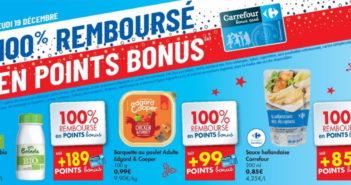 Produits 100% remboursé chez Carrefour le 19 décembre 2019
