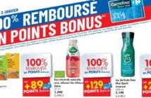 Produits 100% remboursé chez Carrefour le 2 janvier 2020