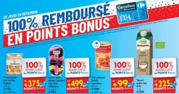 Produits 100% remboursé chez Carrefour le 26 décembre 2019