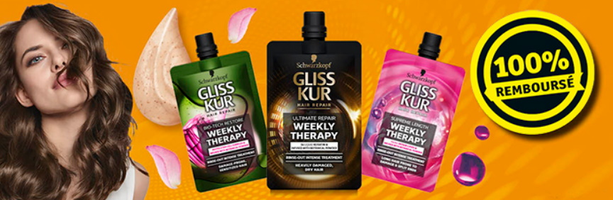 Soin cheveux Gliss Kur 100% remboursé chez Kruidvat