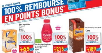 Produits 100% remboursé chez Carrefour le 16 janvier 2020