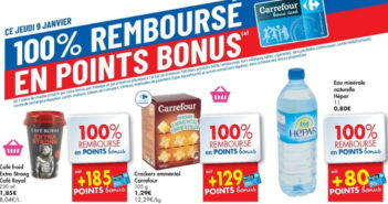 Produits 100% remboursé chez Carrefour le 9 janvier 2020