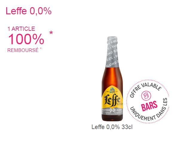 Bière Leffe 100% remboursé avec Shopmium