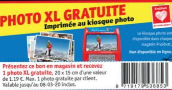 Impression photo gratuite chez Kruidvat