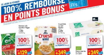 Produits 100% remboursés chez Carrefour le 13 février 2020