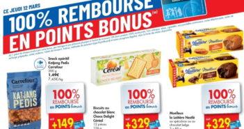 Produits 100% remboursé chez Carrefour le 12 mars 2020