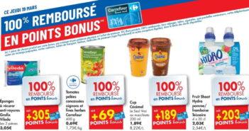 Produits 100% remboursé chez Carrefour le 19 mars 2020