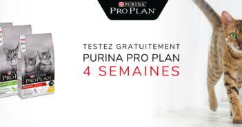 Test gratuit nourriture pour chats Purina Pro Plan