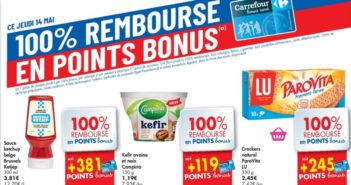 Produits 100% remboursé chez Carrefour le 14 mai 2020