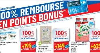 Produits 100% remboursé chez Carrefour le 22 mai 2020