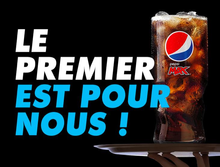 Boisson Pepsi Max gratuite