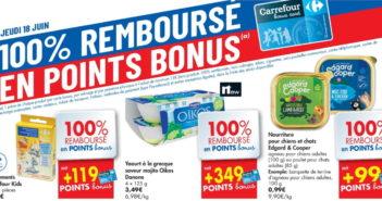 Produits 100% remboursé chez Carrefour le 18 juin 2020