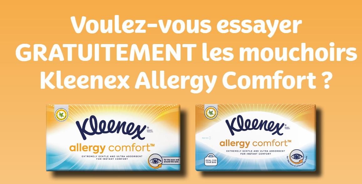 Mouchoirs Kleenex gratuits