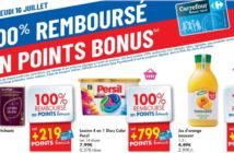 Produits 100% remboursé chez Carrefour le 16 juillet 2020