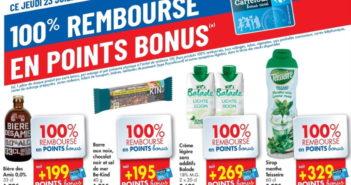 Produits 100% remboursé chez Carrefour le 23 juillet 2020