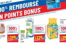 Produits 100% remboursé chez Carrefour le 9 juillet 2020