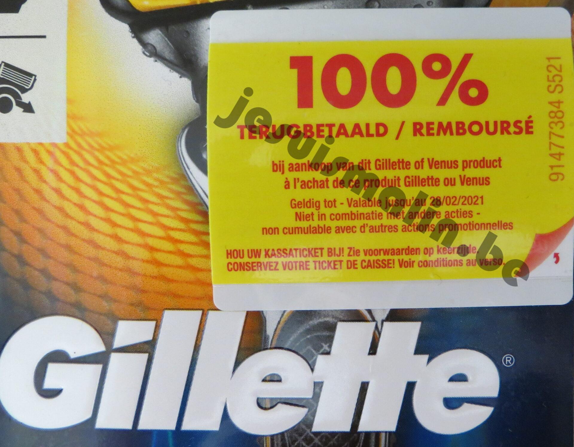 Rasoir Gillette ou Venus 100% remboursé