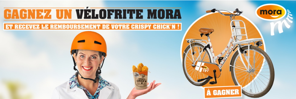 Crispy Chick'n Strips de Mora 100% remboursé