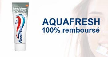 Dentifrice Aquafresh Tartar Control 100% remboursé chez Kruidvat