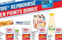 Produits 100% remboursé chez Carrefour le 3 septembre 2020