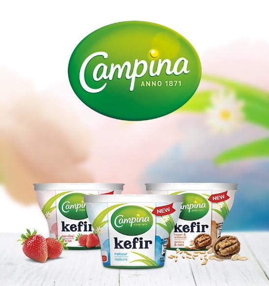 Yaourt kéfir Campina 100% remboursé sur Shopmium