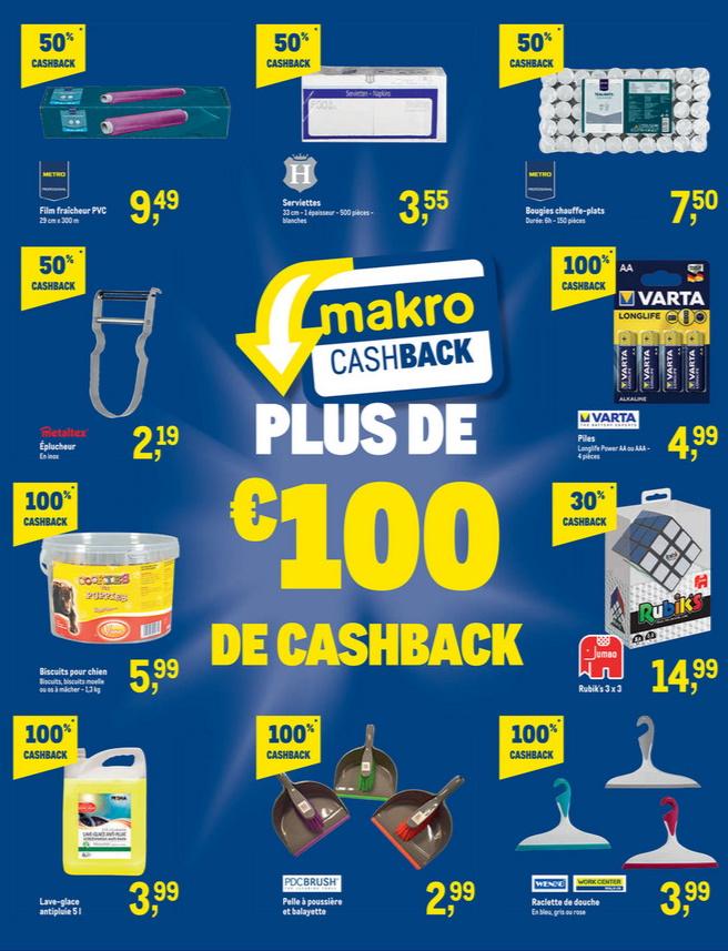 Produits remboursés sur la carte Makro