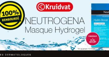 Masque visage Hydrogel Neutrogena 100% remboursé chez Kruidvat