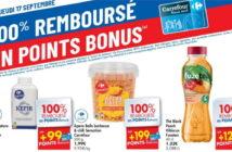 Produits 100% remboursé chez Carrefour le 17 septembre 2020