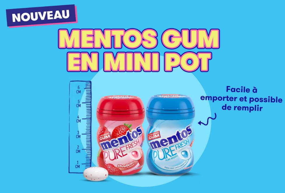 Chewing-gum Mentos 100% remboursé
