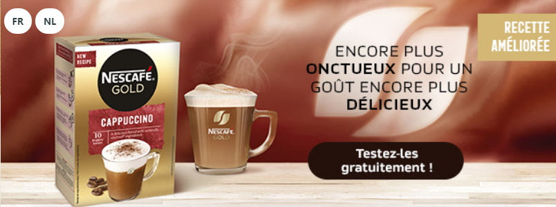 Échantillon gratuit du café Cappuccino de Nescafé