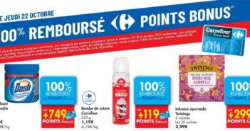 Produits 100% remboursé chez Carrefour le 22 octobre 2020