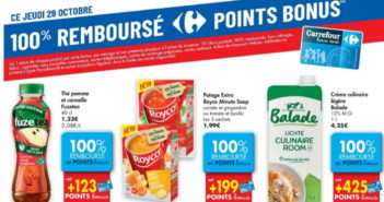 Produits 100% remboursé chez Carrefour le 29 octobre 2020