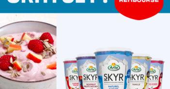 Yaourt Arla Skyr 100% remboursé