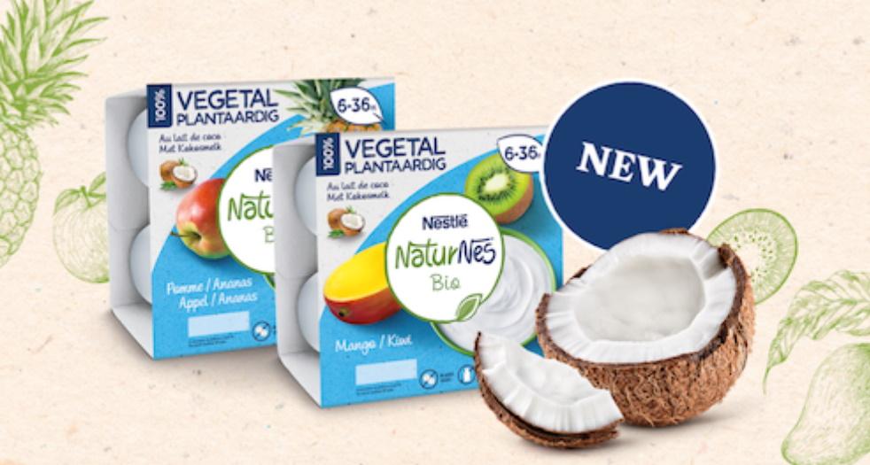 Laitage végétal NaturNes Bio de Nestlé 100% remboursé