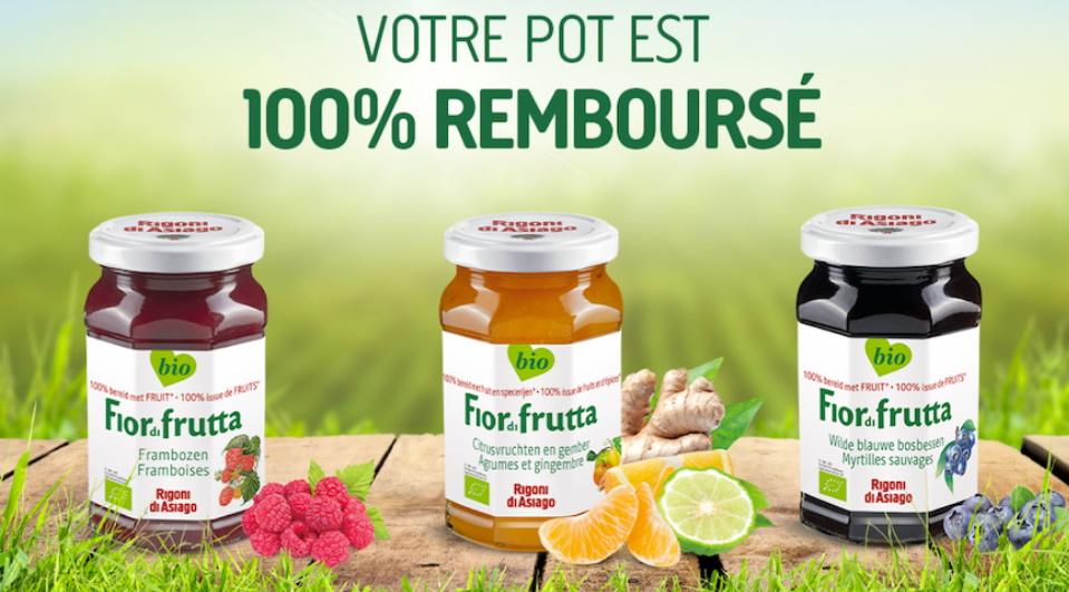 Confiture Fior di frutta Rigoni di Asiago 100% remboursé