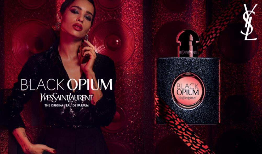 Échantillon gratuit du parfum Black Opium d'Yves Saint-Laurent