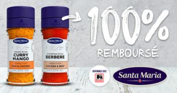 Épices Santa Maria 100% remboursé