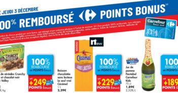 Produits 100% remboursé chez Carrefour le 3 décembre 2020