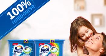 Lessive Dash Pods 100% remboursé
