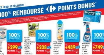 Produits 100% remboursé chez Carrefour le 10/12/2020