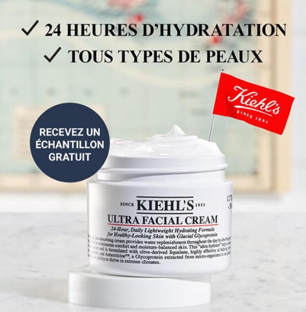 Échantillon gratuit soin visage Ultra Facial Cream de Kiehl's
