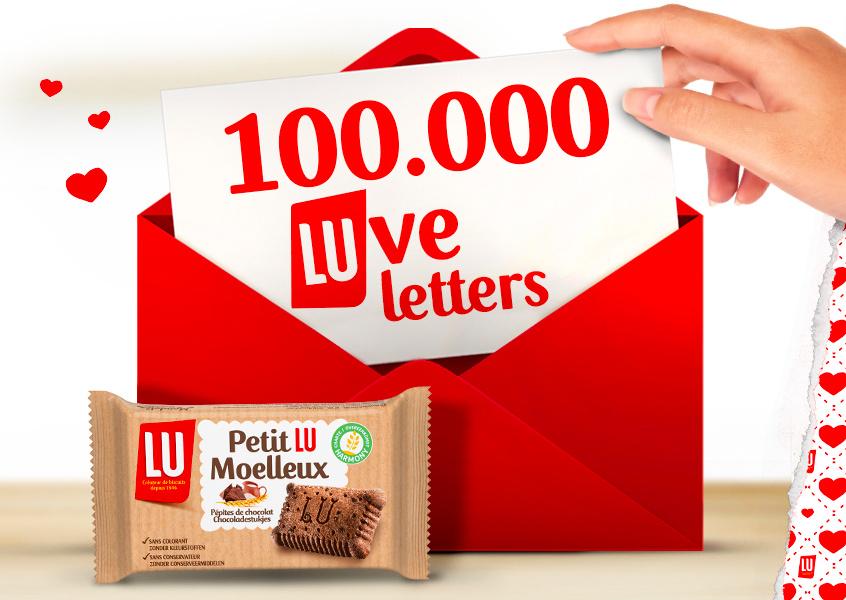 Carte de Saint-Valentin et biscuit Lu gratuits