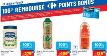 Produits 100% remboursé chez Carrefour le 4 février 2021