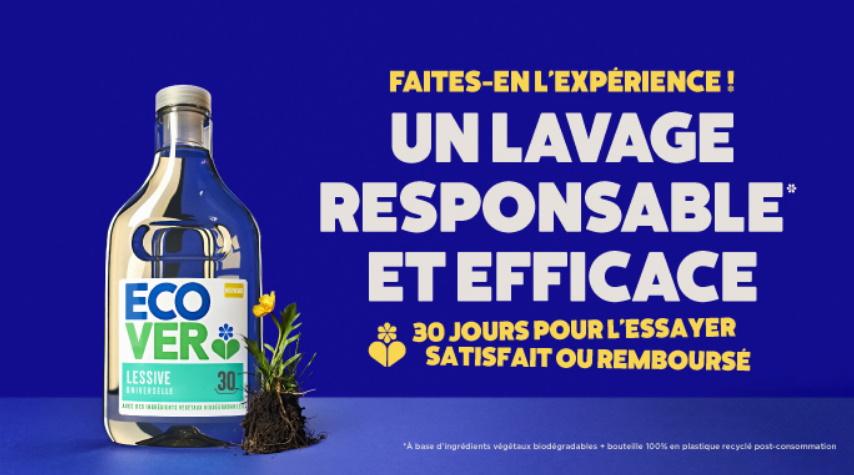Lessive Ecover satisfait ou 100% remboursé
