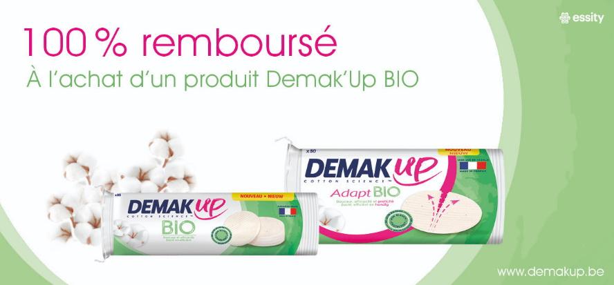 Cotons démaquillants Demak up bio 100% remboursé avec myShopi