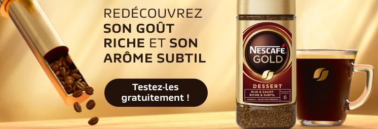 Échantillon gratuit café instantané Nescafé Gold Dessert