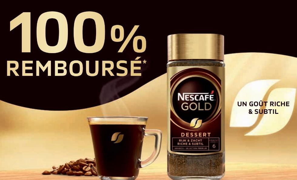 Café instantané Nescafé Gold Dessert 100% remboursé